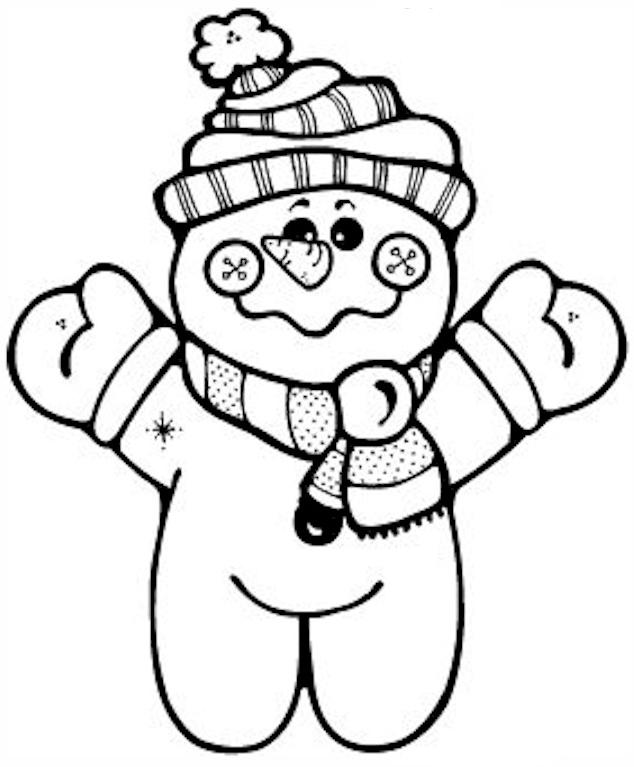 ภาพระบายสี : ตุ๊กตาหิมะ [Snowman] I – Little English with ...
