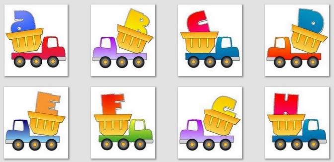 Clip Art : รถบรรทุกตัวอักษร ABC ...