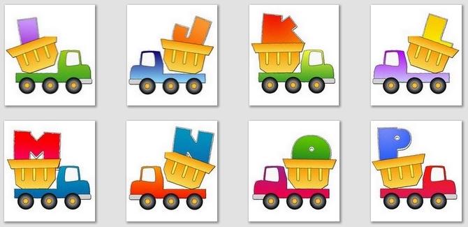 Clip Art ABC Alphabet Truck Little