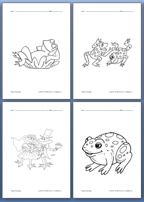Image Result For Frog Coloring Page