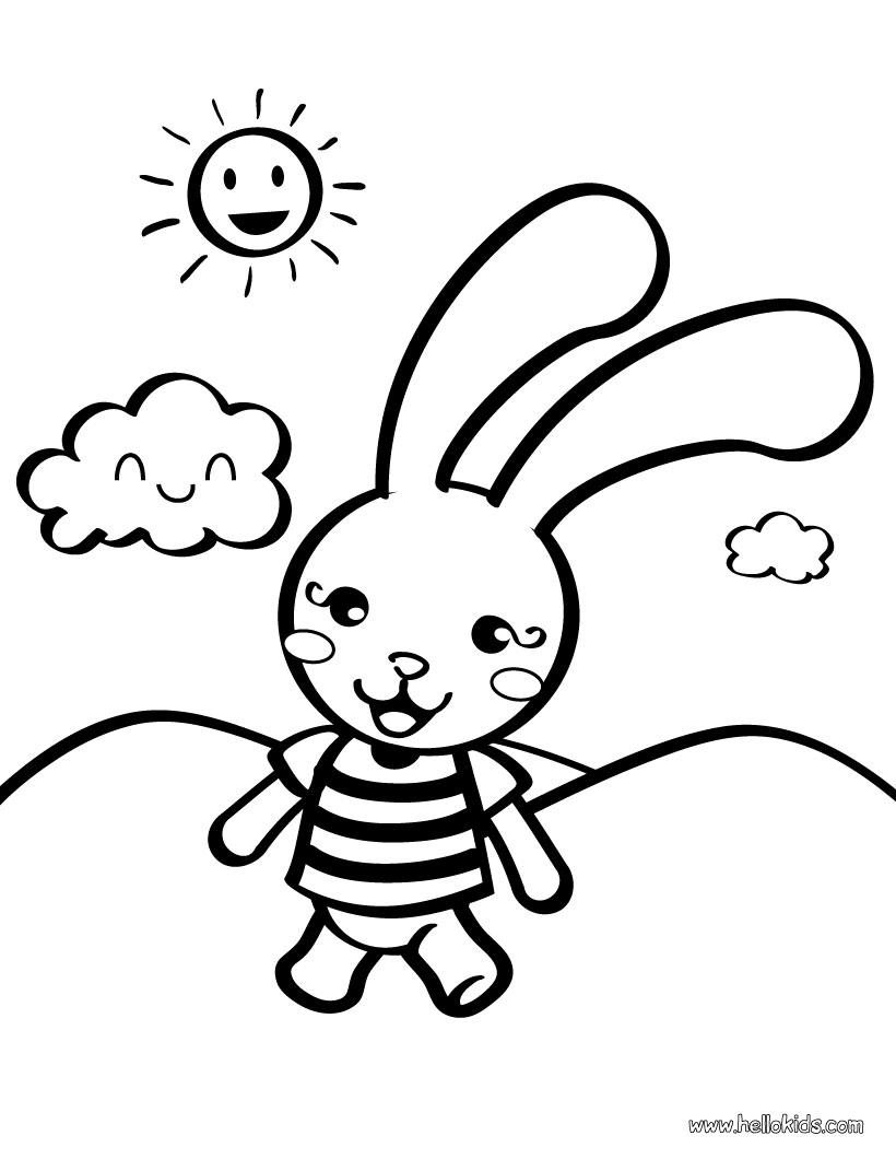 ภาพระบายส กระต าย rabbit coloring page little english with