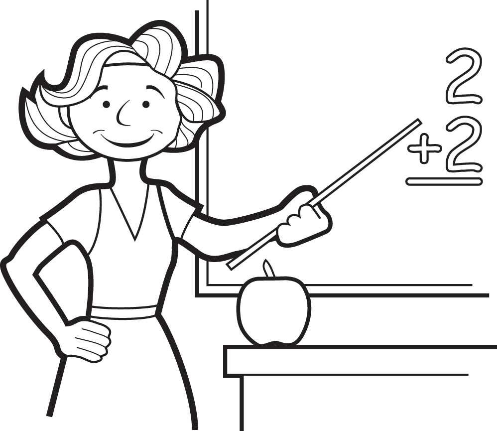 coloring pages of a teacher - photo#4