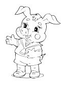 Image Result For Three Pigs Coloring