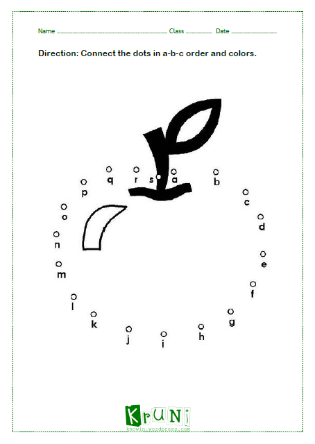 ABC dot to dot Apple