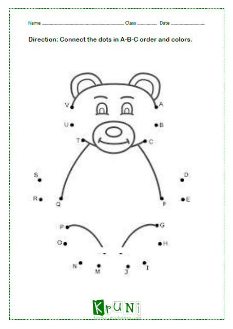 ABC dot to dot Bear