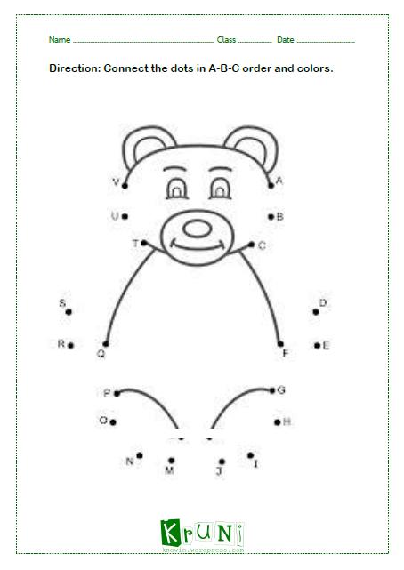 ABC dot to dot Bear