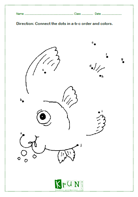 ABC dot to dot Fish