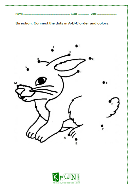 ABC dot to dot Rabbit