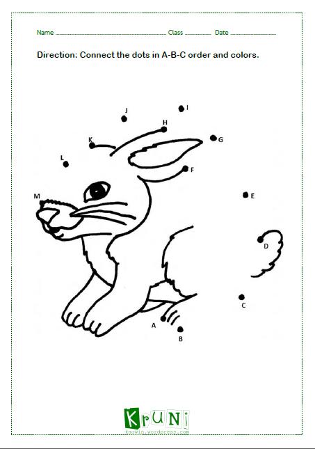 ABC dot to dot Rabbit