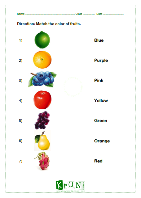 Color of Fruits