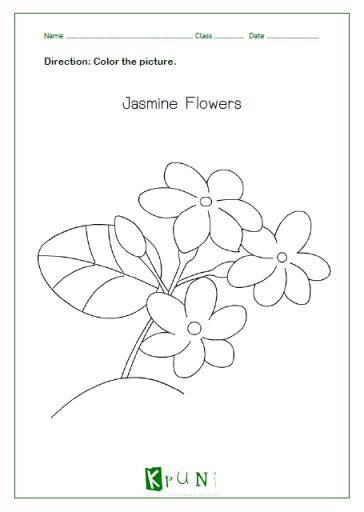 ภาพระบายสีดอกมะลิวันแม่